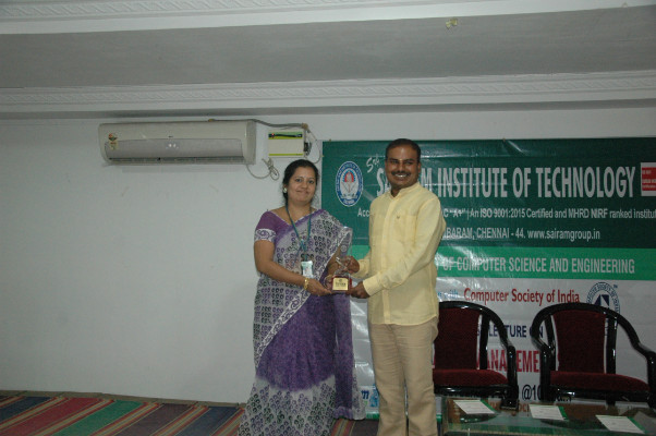 Department Of Cse Organized A Guest Lecture On Database